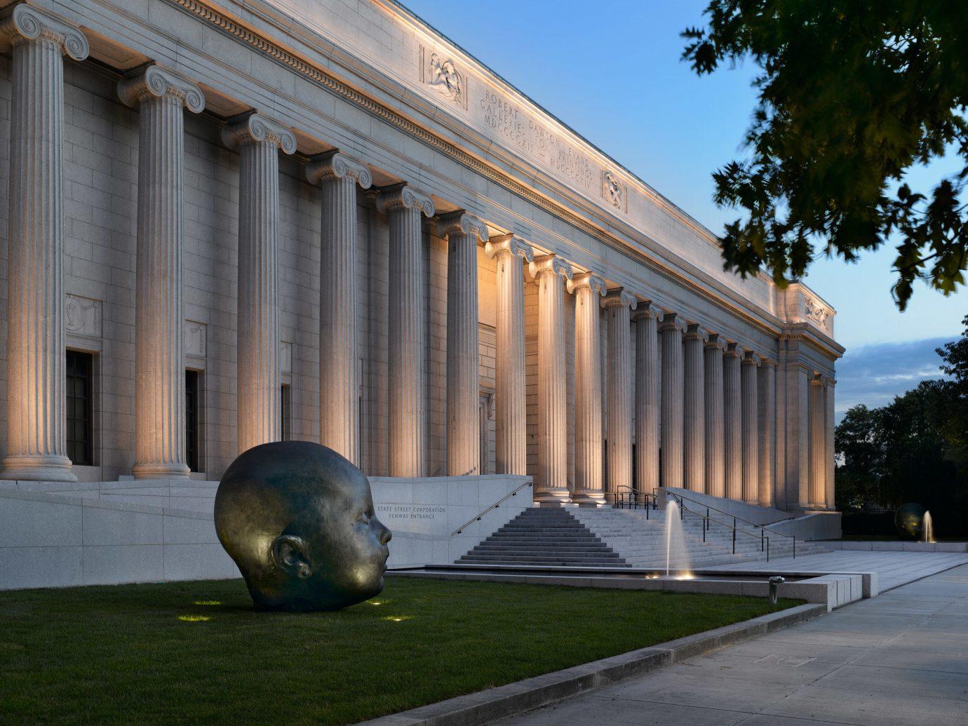 Exterior of Museum of Fine Arts, Boston.