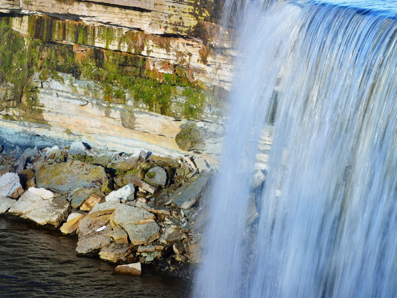 Trip Ideas Nature water Waterfall outdoor body of water River water feature season Winter stream rock rapid autumn