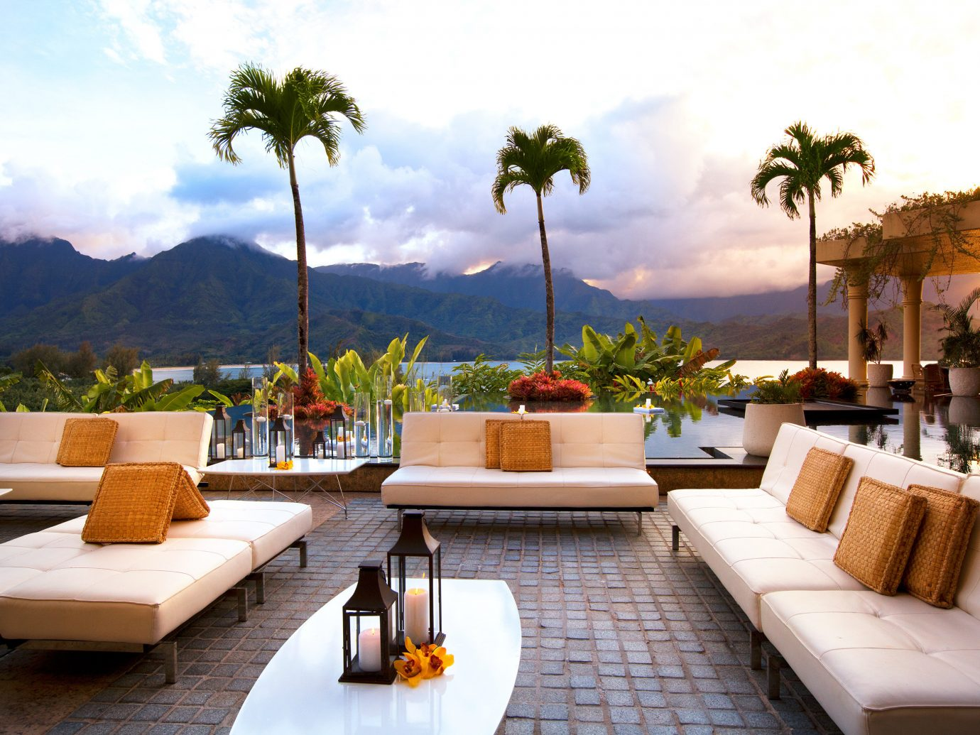 St Regis Outdoor Patio At The Princeville Resort In Kauai