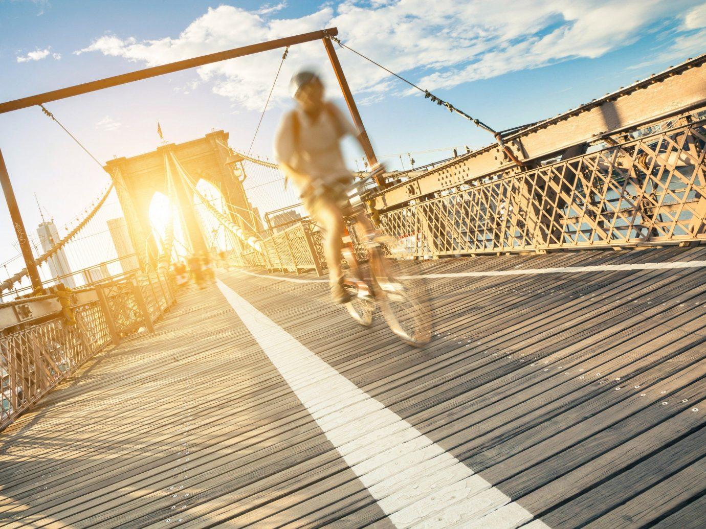 Health + Wellness Trip Ideas sky outdoor walkway bridge boardwalk sunlight wood roof track