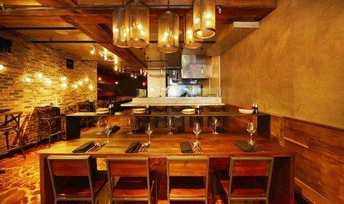 Food + Drink indoor ceiling floor room restaurant Bar estate