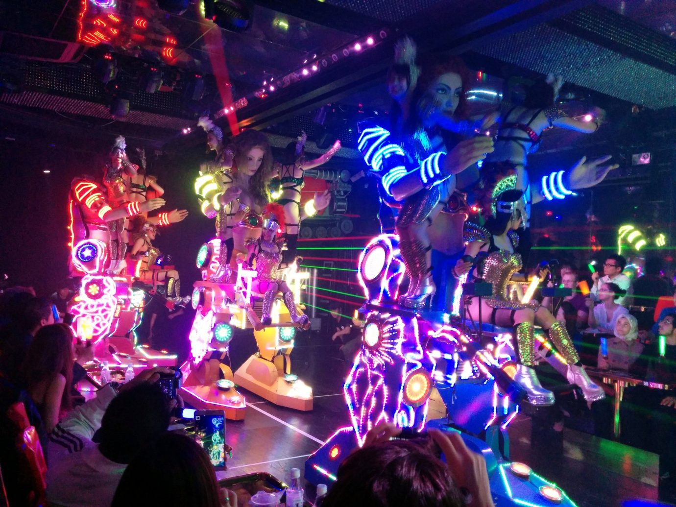 Offbeat person scene stage indoor nightclub group club disco Music crowd people music venue