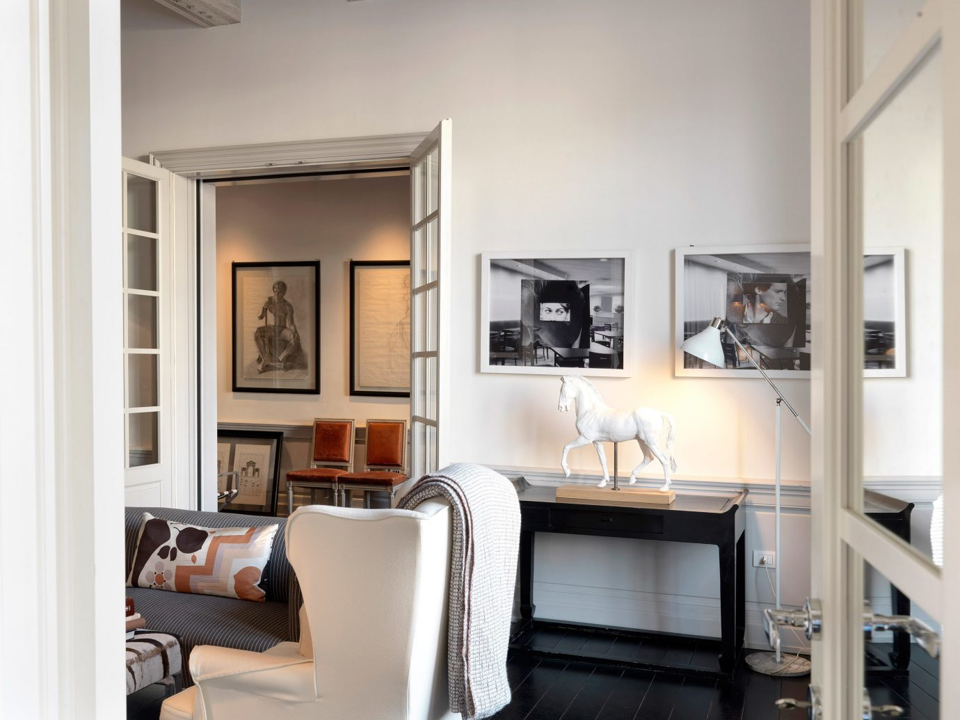 Boutique City Elegant Florence Hotels Italy Lounge Romance Romantic indoor floor wall room Living living room property home interior design dining room cabinetry furniture condominium Design real estate loft apartment leather