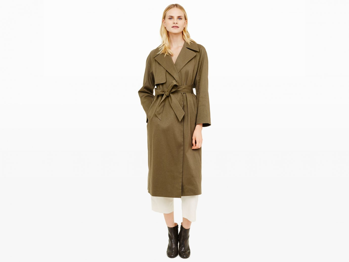 Style + Design clothing coat trench coat sleeve outerwear dress overcoat gown costume beige
