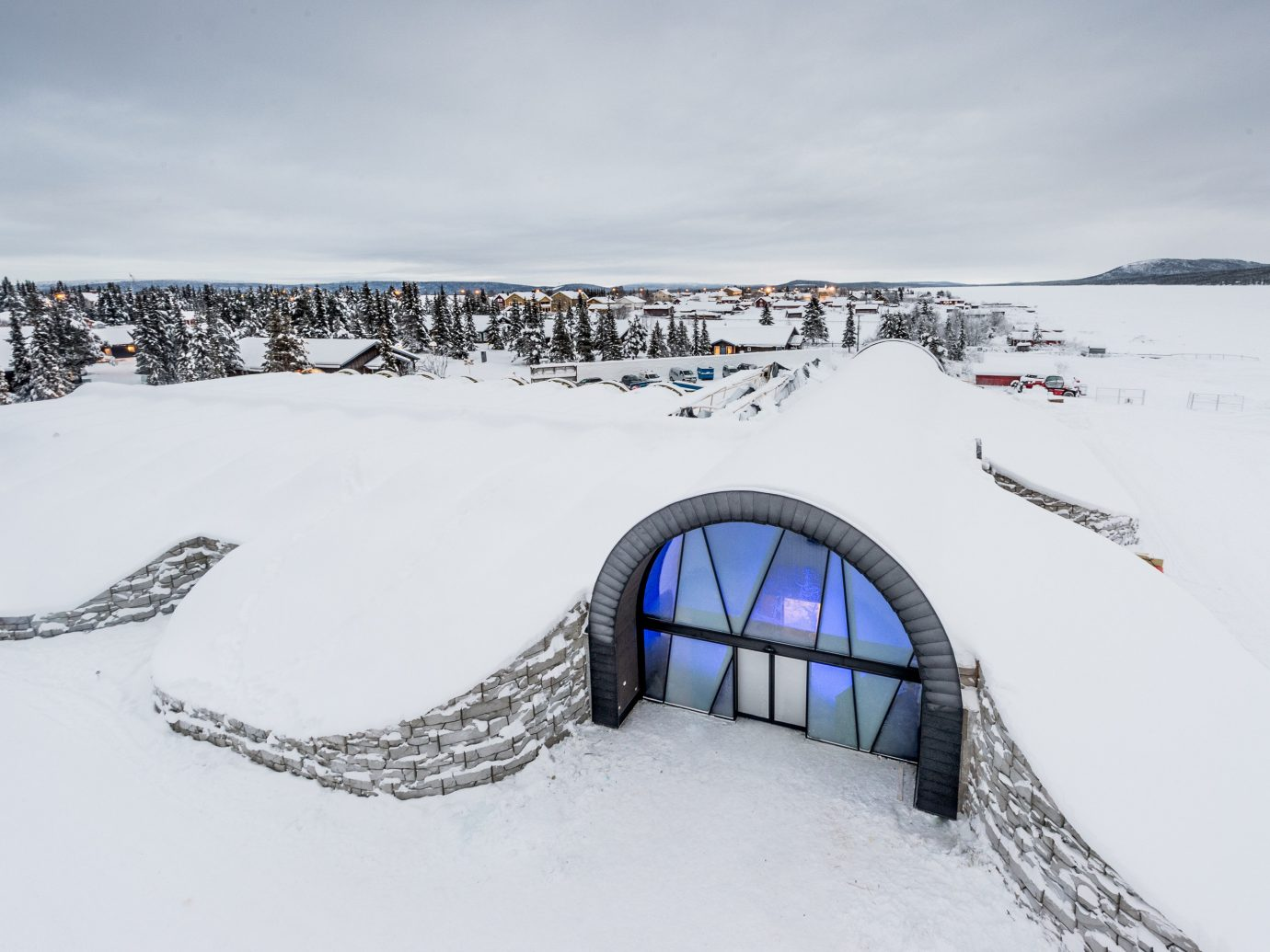 Boutique Hotels Sweden snow outdoor sky Winter covered winter sport arctic ice freezing glacial landform slope day
