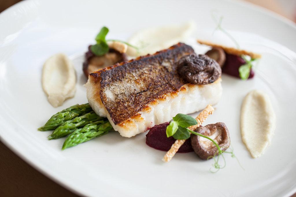 Trip Ideas plate food dish meat white piece fish slice cuisine produce meal restaurant steak dessert arranged piece de resistance