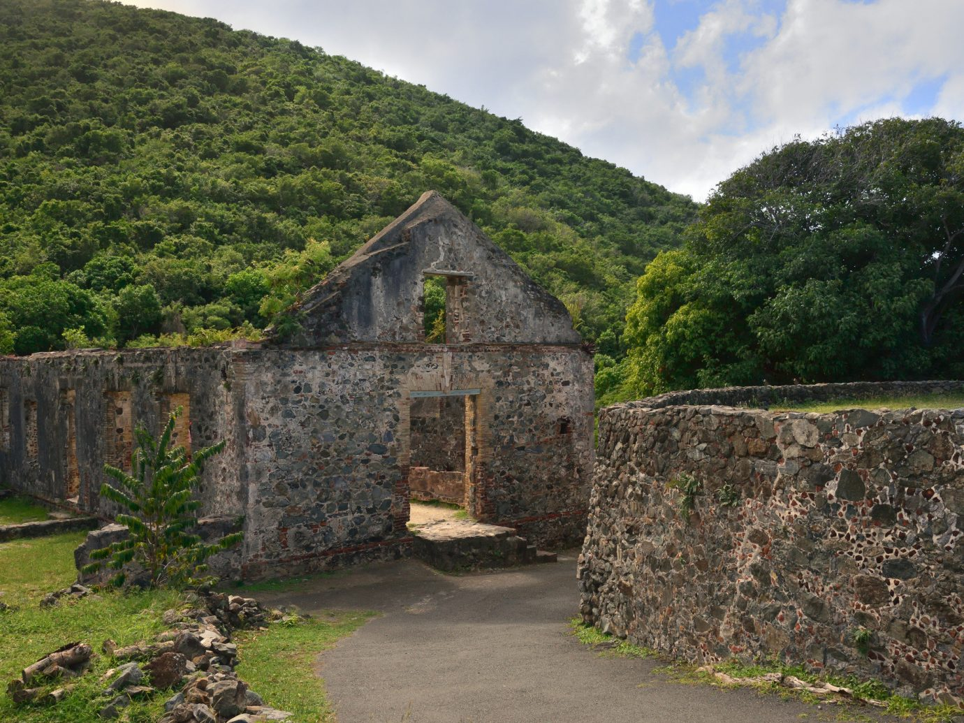 Trip Ideas outdoor grass tree highland building Ruins Village stone rural area hill estate fortification monastery ancient history chapel place of worship old