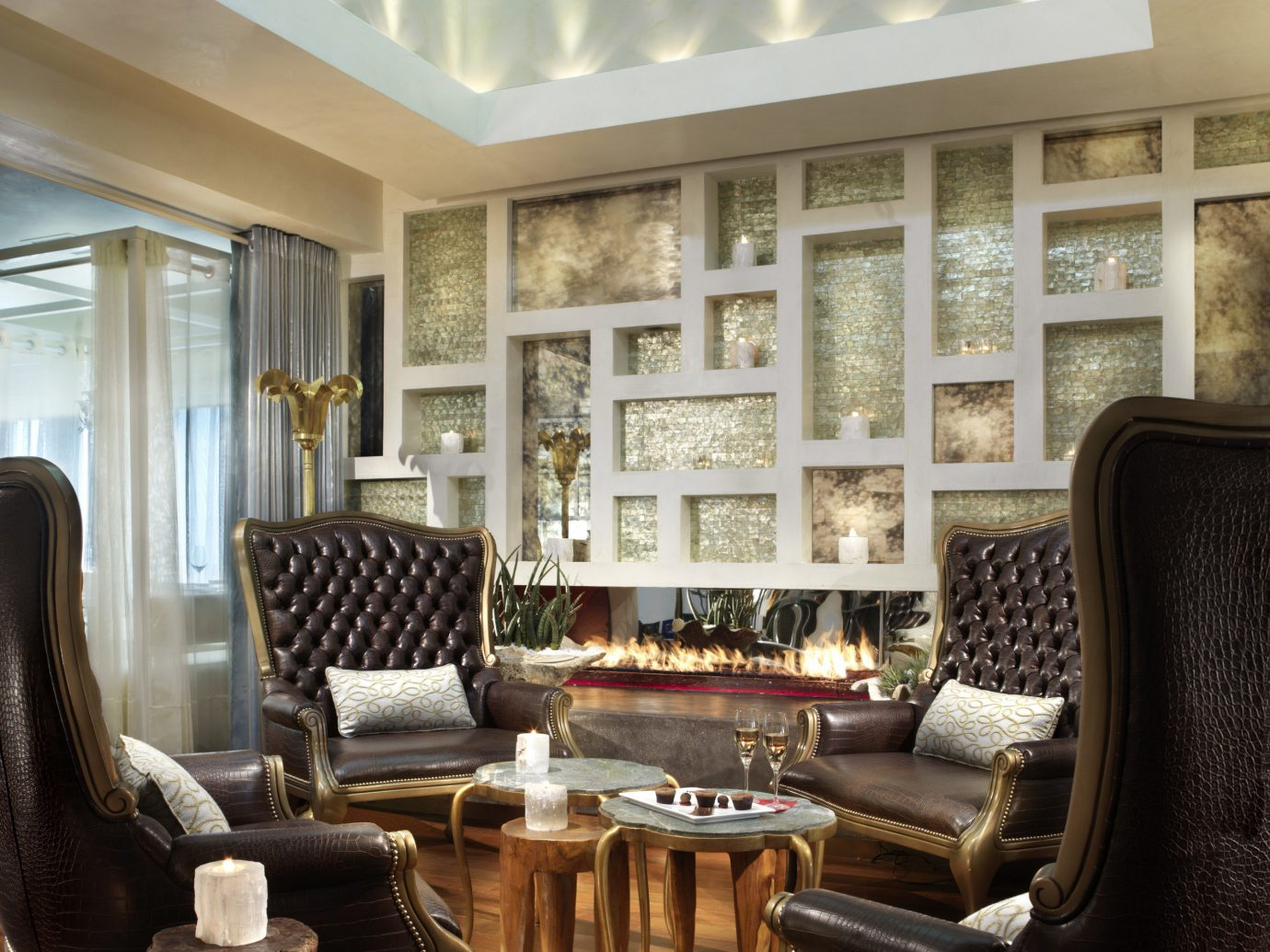 Food + Drink indoor floor Living Lobby room chair property window living room ceiling furniture interior design estate home dining room real estate condominium window covering mansion area