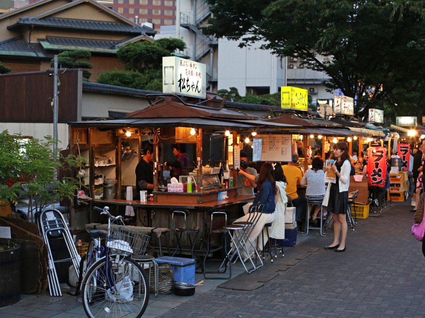 Japan Trip Ideas marketplace market public space stall Town street City pedestrian Downtown bazaar