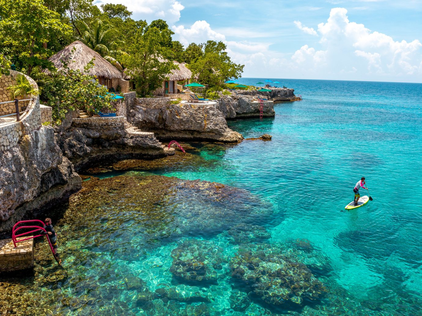 Budget Hotels Trip Ideas water sky outdoor rock landform Sea body of water Nature vacation Ocean Coast bay tropics Lagoon terrain Island