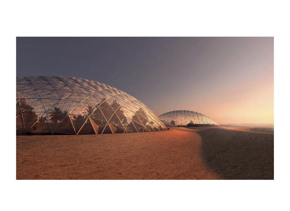 News Offbeat building dome ecosystem sky landscape ecoregion stock photography horizon Desert sand aeolian landform colored