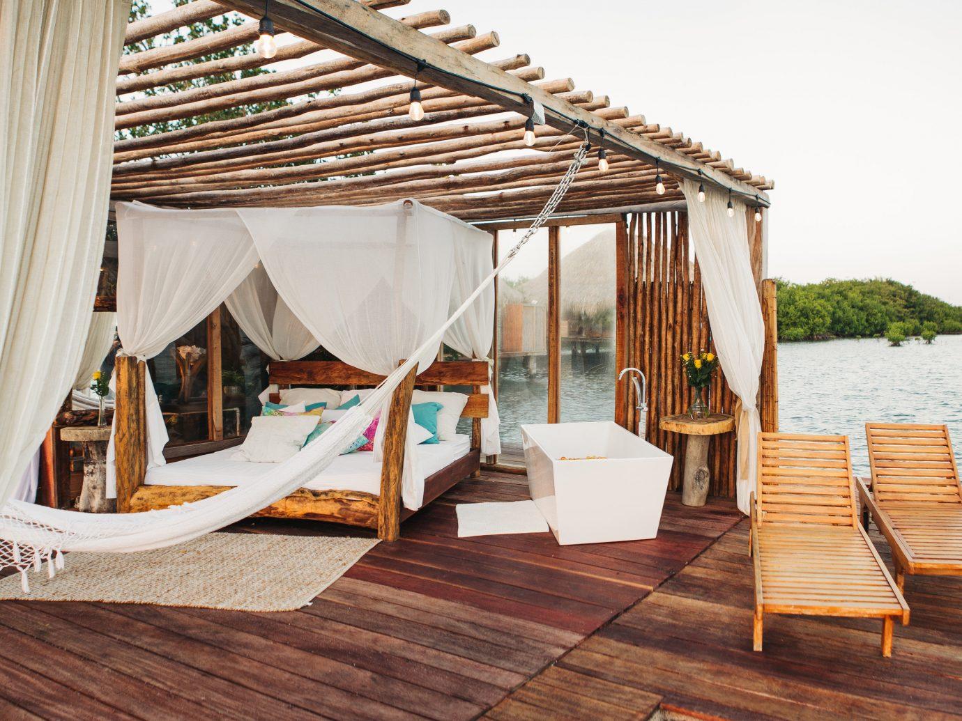 Aruba caribbean Hotels furniture outdoor furniture sunlounger wood vacation Resort tent outdoor structure
