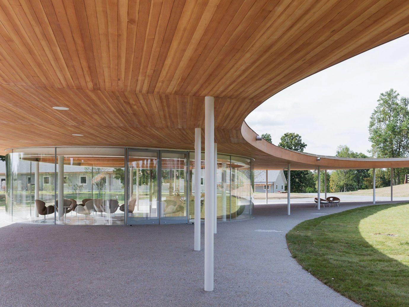 Arts + Culture grass outdoor structure property building Architecture leisure centre estate home real estate pavilion headquarters plaza