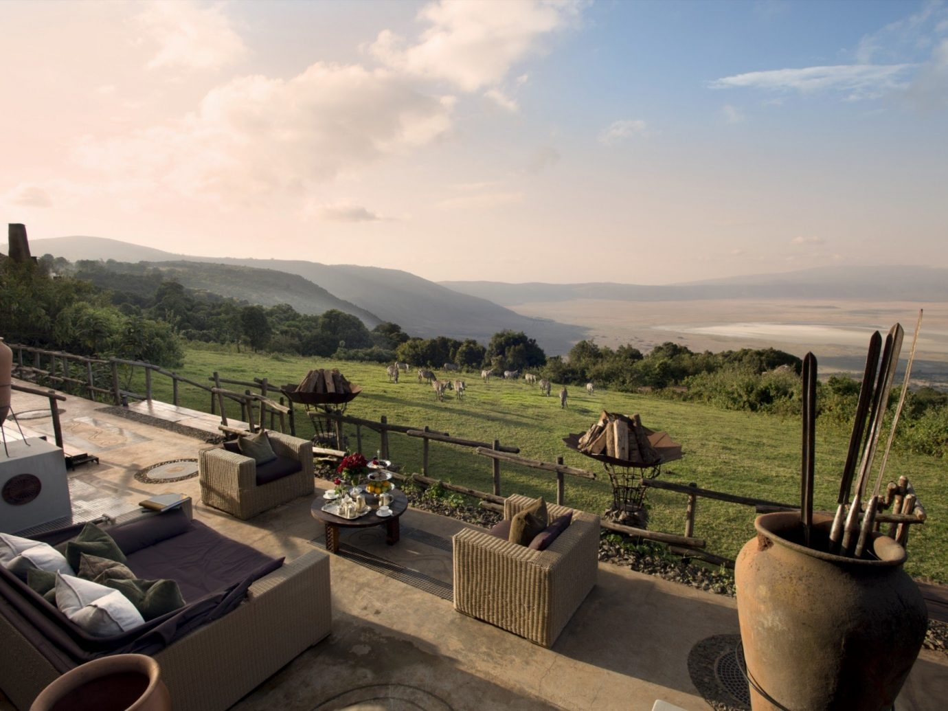 View from andBeyond Ngorongoro Crater Lodge, Tanzania African Safari