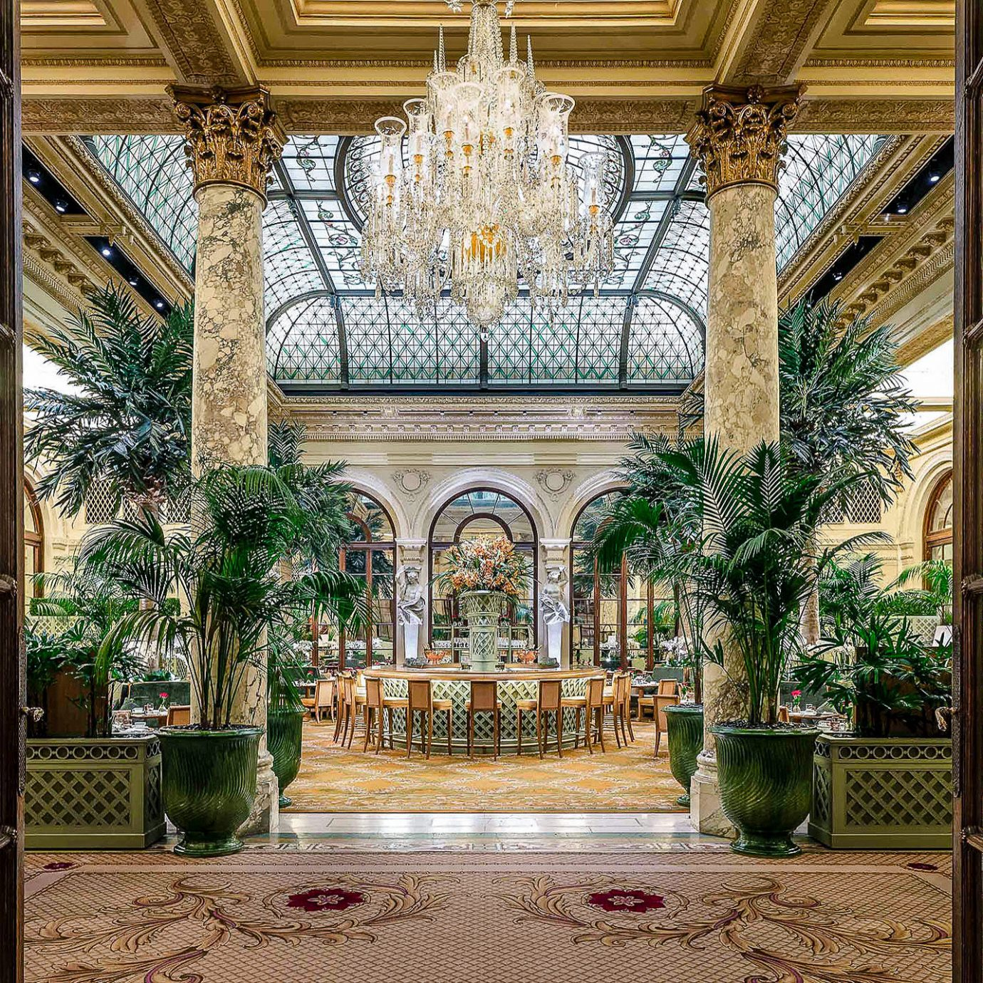 Hotels Luxury Travel Romantic Hotels Trip Ideas building Lobby Courtyard tourist attraction estate window outdoor structure arch symmetry facade tree arcade interior design walkway colonnade