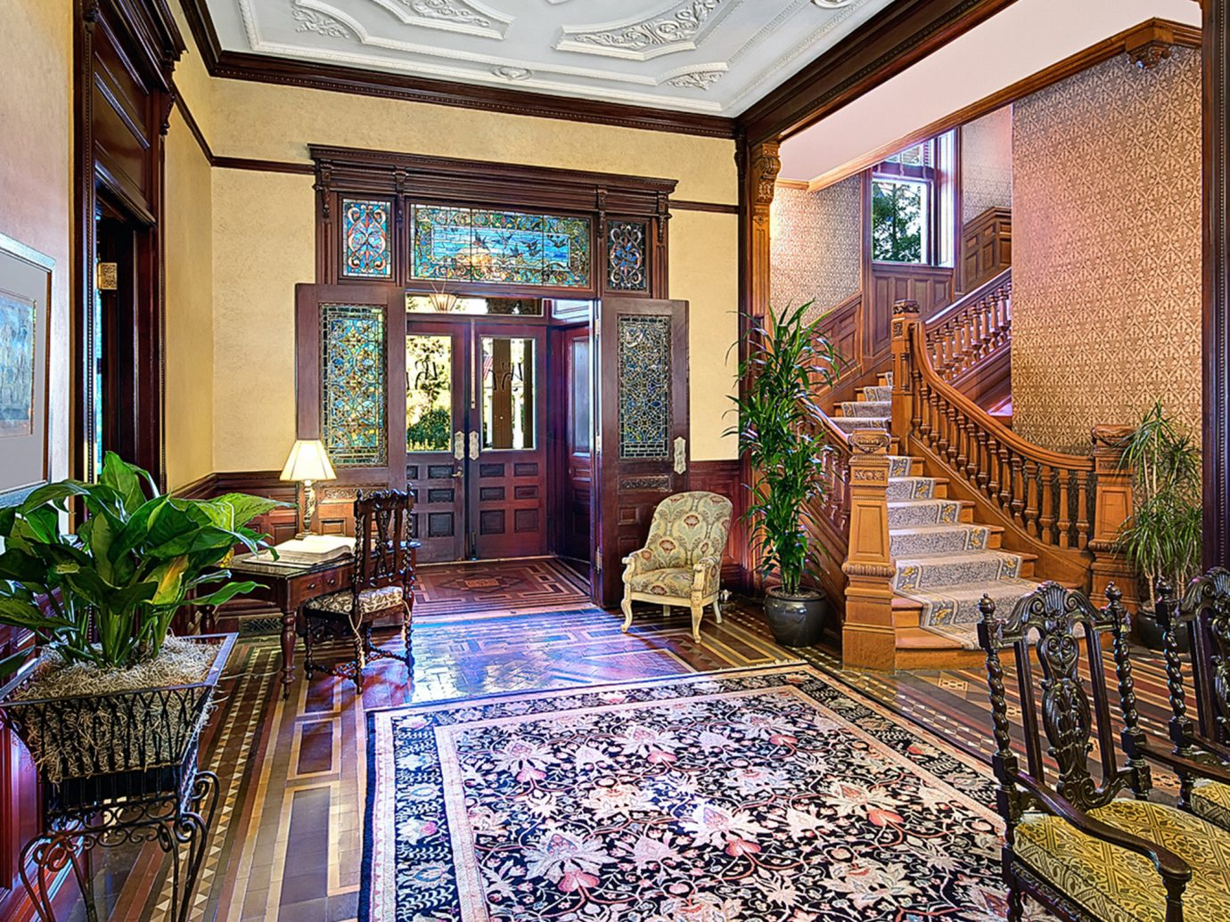 Historic Hotels Living Lounge Rustic Lobby property estate room mansion home interior design real estate palace Resort decorated area furniture
