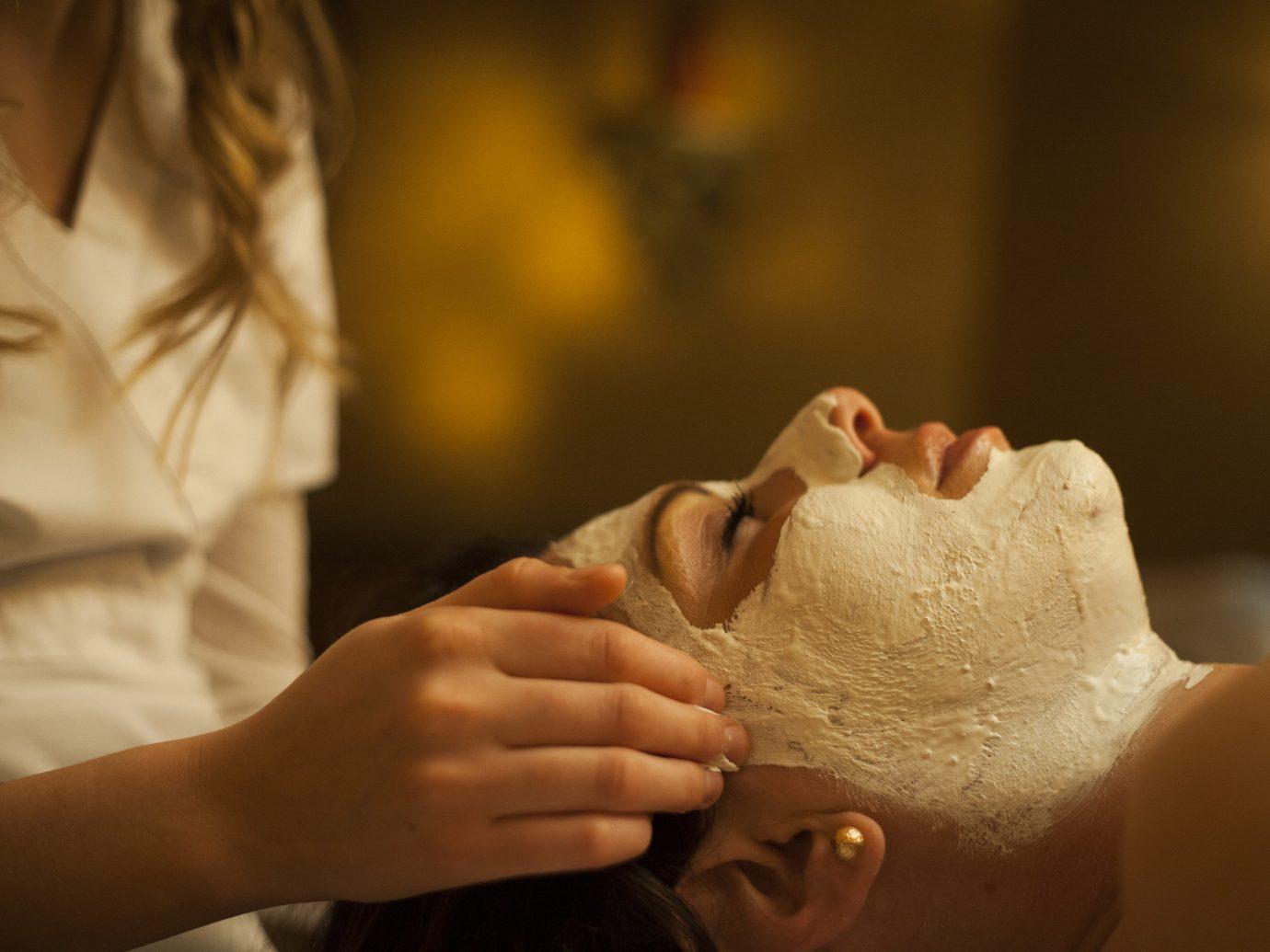 Health + Wellness Spa Retreats Trip Ideas person indoor close up skin child hand sense temple bride portrait dessert