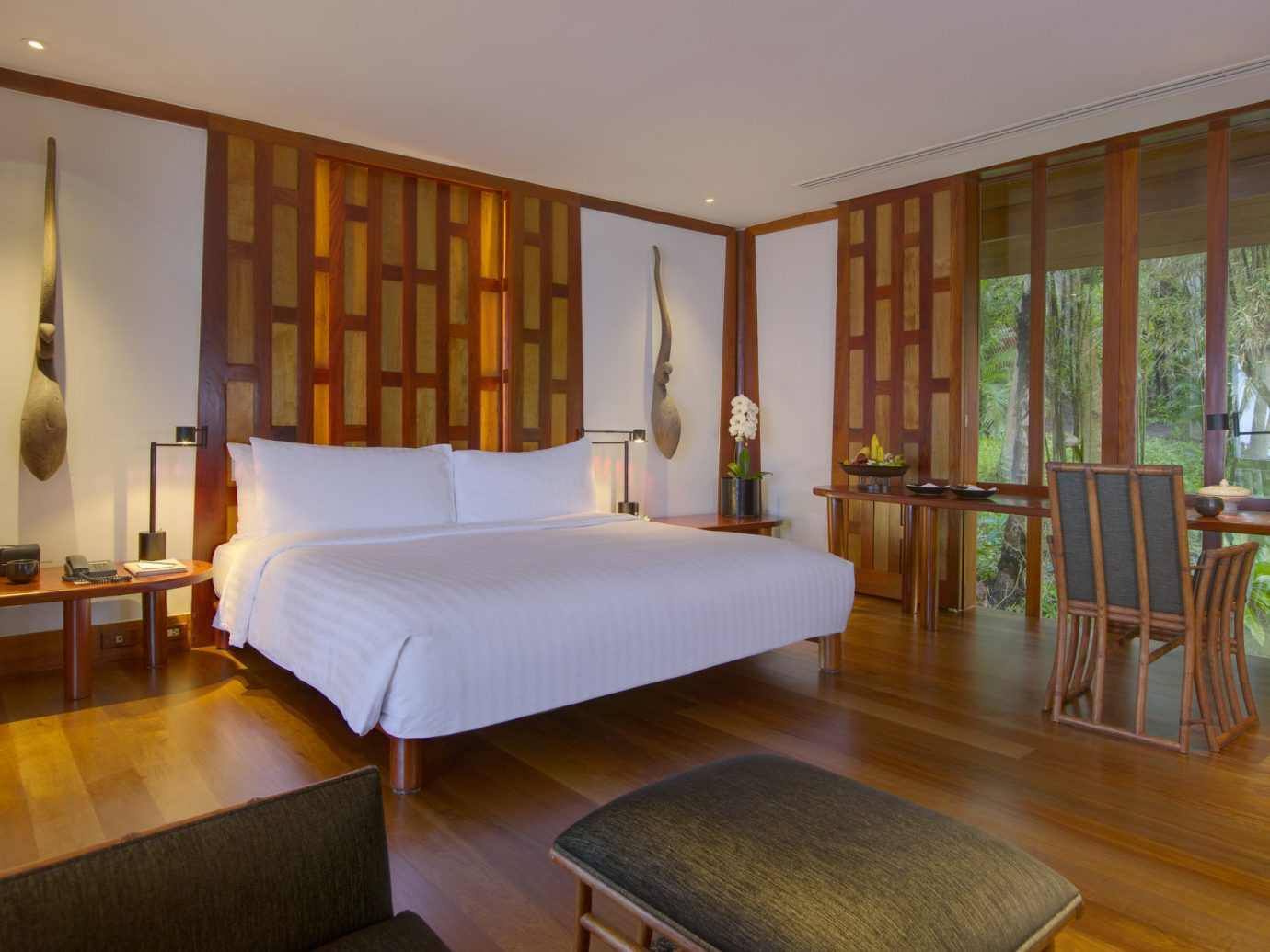 Beach Hotels Phuket Thailand floor indoor wall room ceiling bed property estate Bedroom Suite interior design hotel real estate hardwood Villa nice apartment living room Resort furniture wood area
