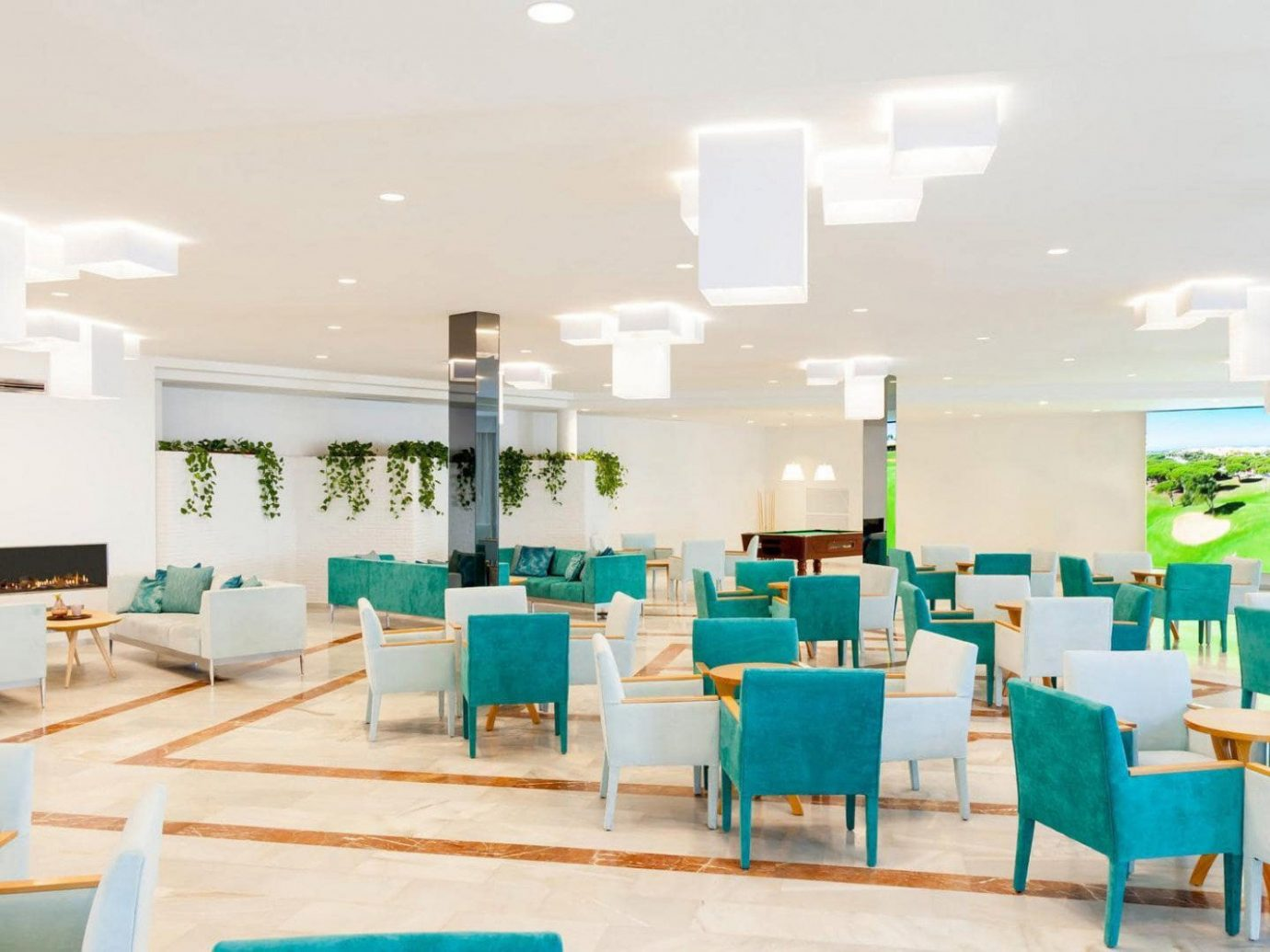 All-Inclusive Resorts Hotels floor indoor room chair Living interior design table furniture restaurant product design ceiling interior designer daylighting