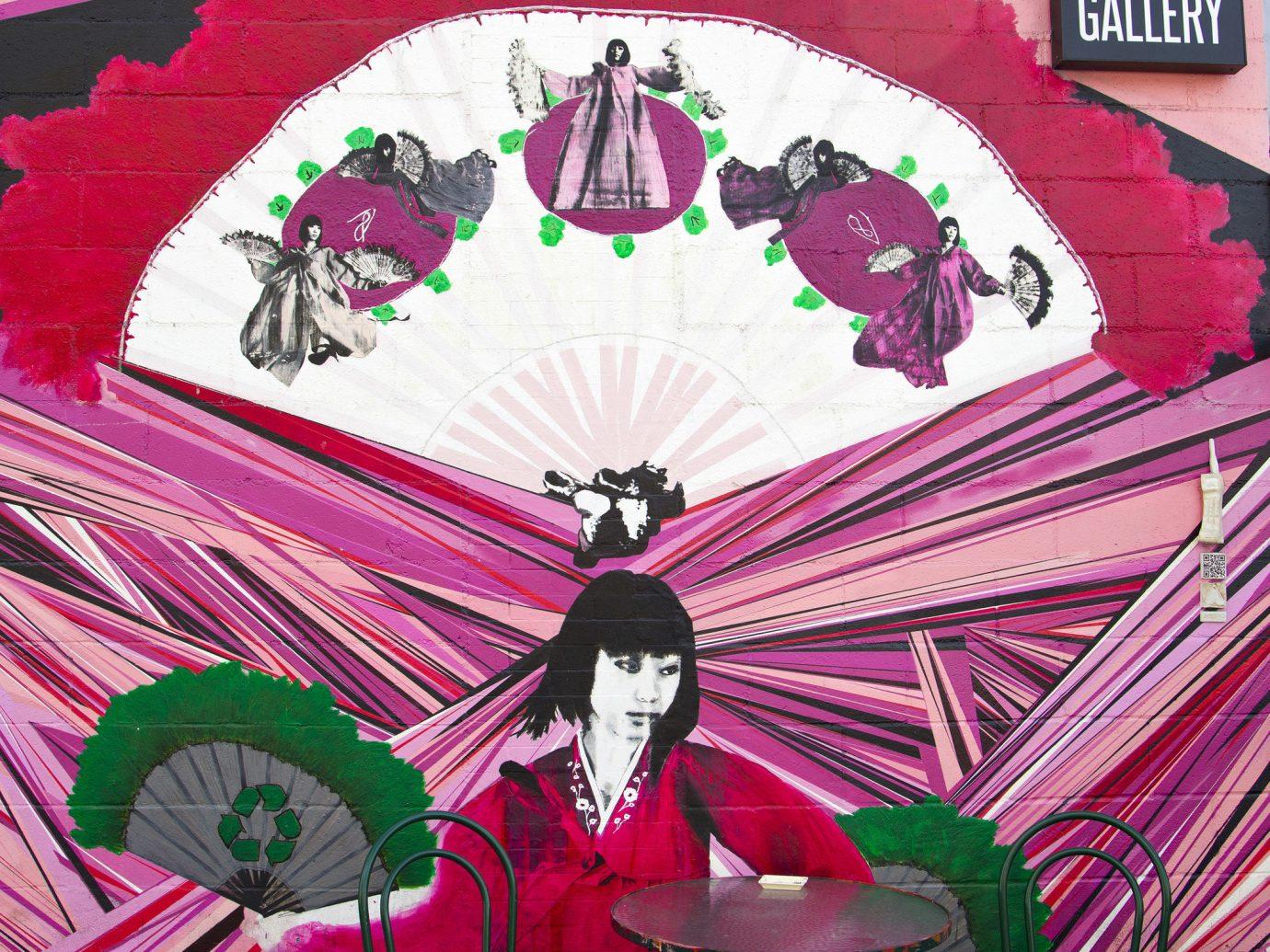 Trip Ideas color red pink art illustration