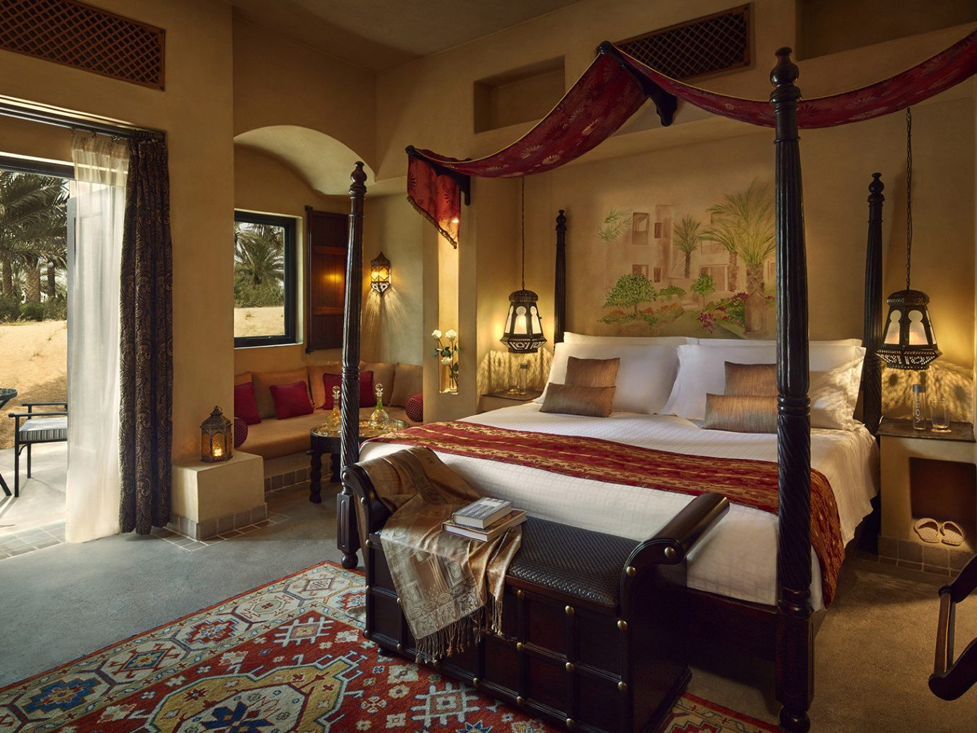 Dubai Hotels Luxury Travel Middle East indoor room floor wall Living Suite interior design Bedroom real estate estate hotel ceiling furniture bed hacienda decorated several