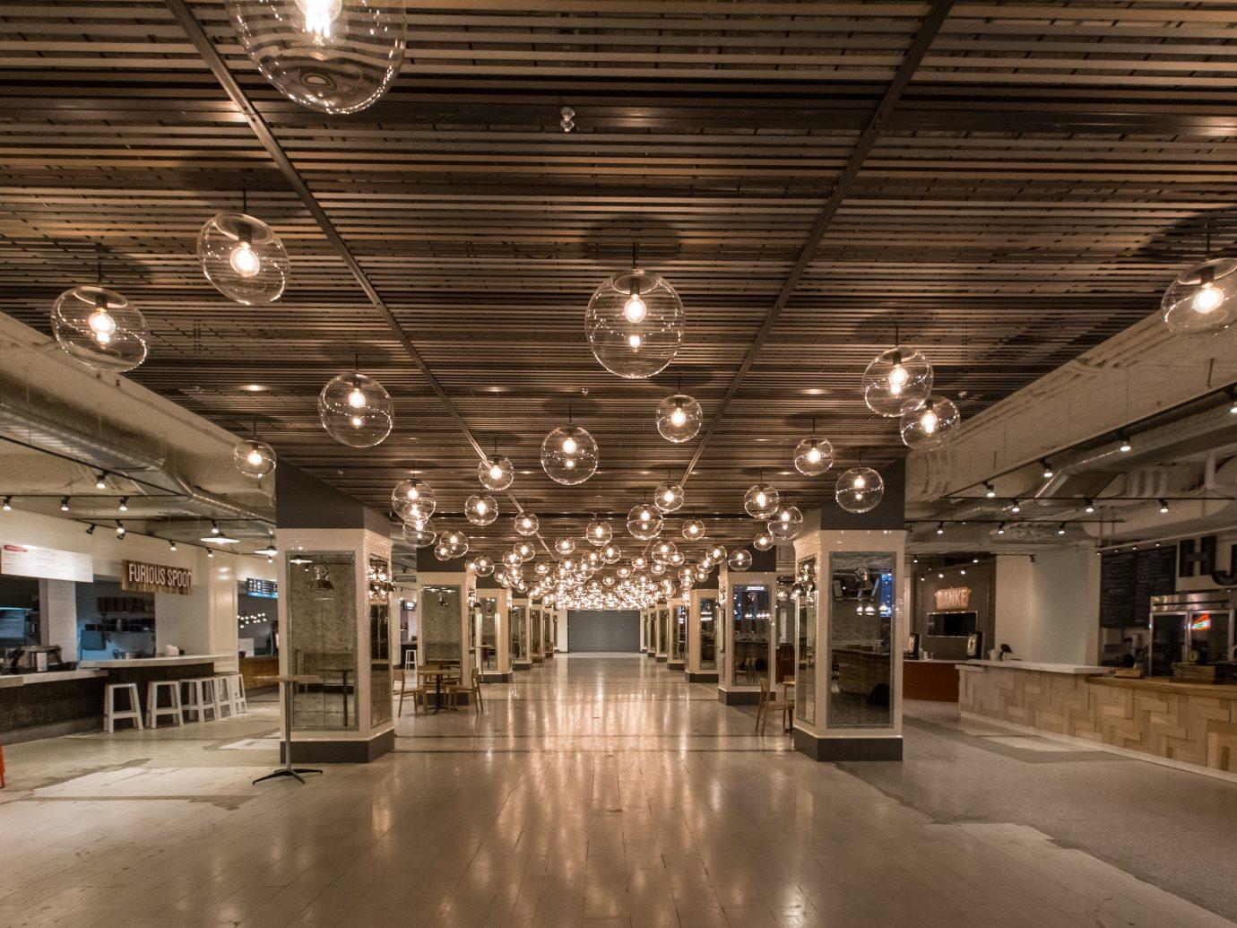 Food + Drink indoor ceiling floor transport building public transport interior design lighting metro station hall several