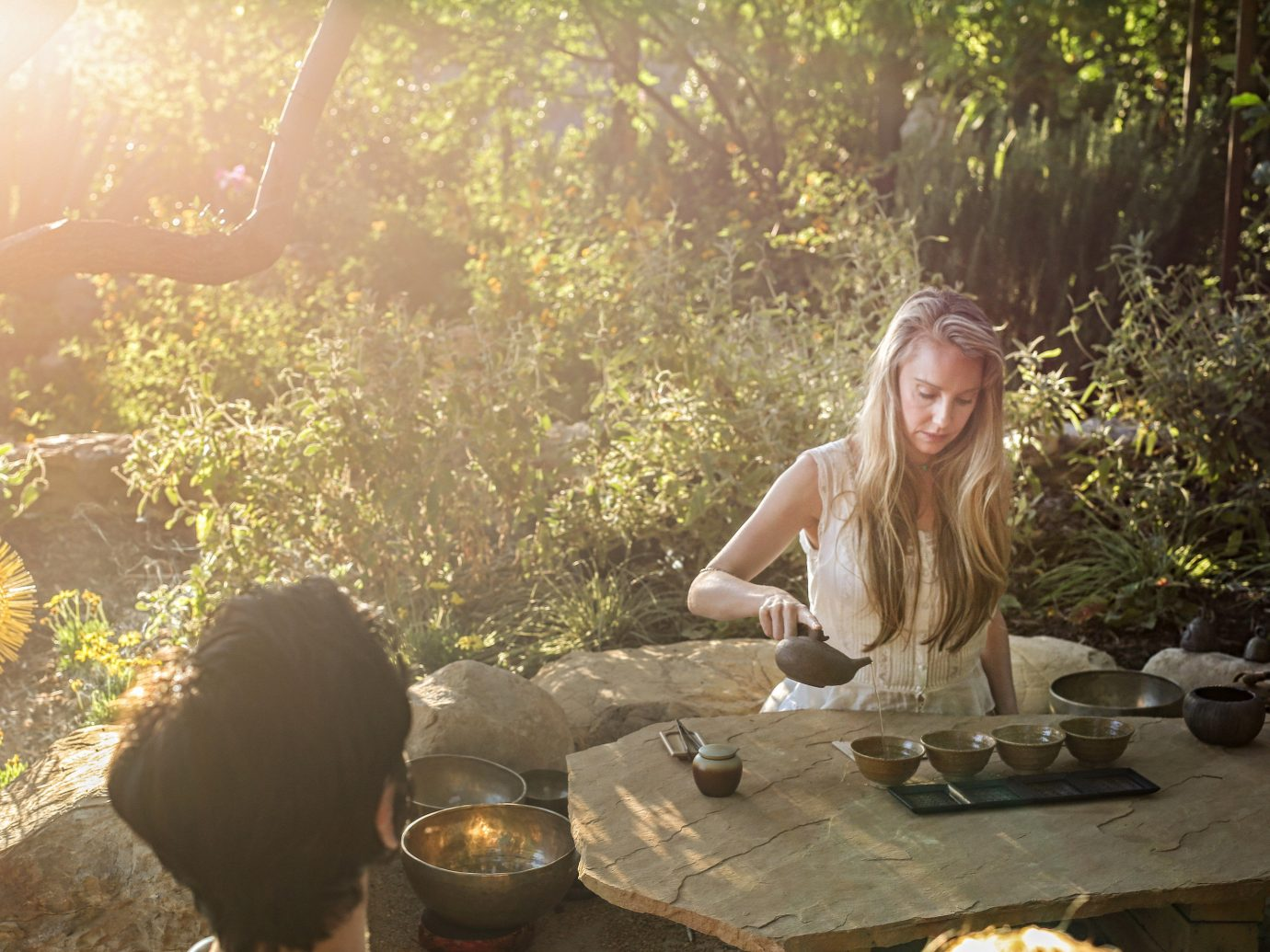 Health + Wellness Meditation Retreats Offbeat Spa Retreats Yoga Retreats tree person outdoor sunlight temple flower autumn