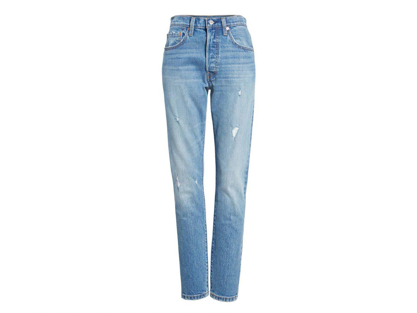 Celebs Style + Design Travel Shop clothing trouser jeans denim pocket trousers waist electric blue blue colored