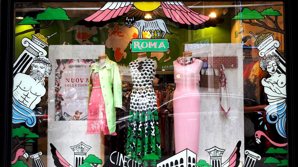 Trip Ideas art items advertising display window street art product different colorful thing