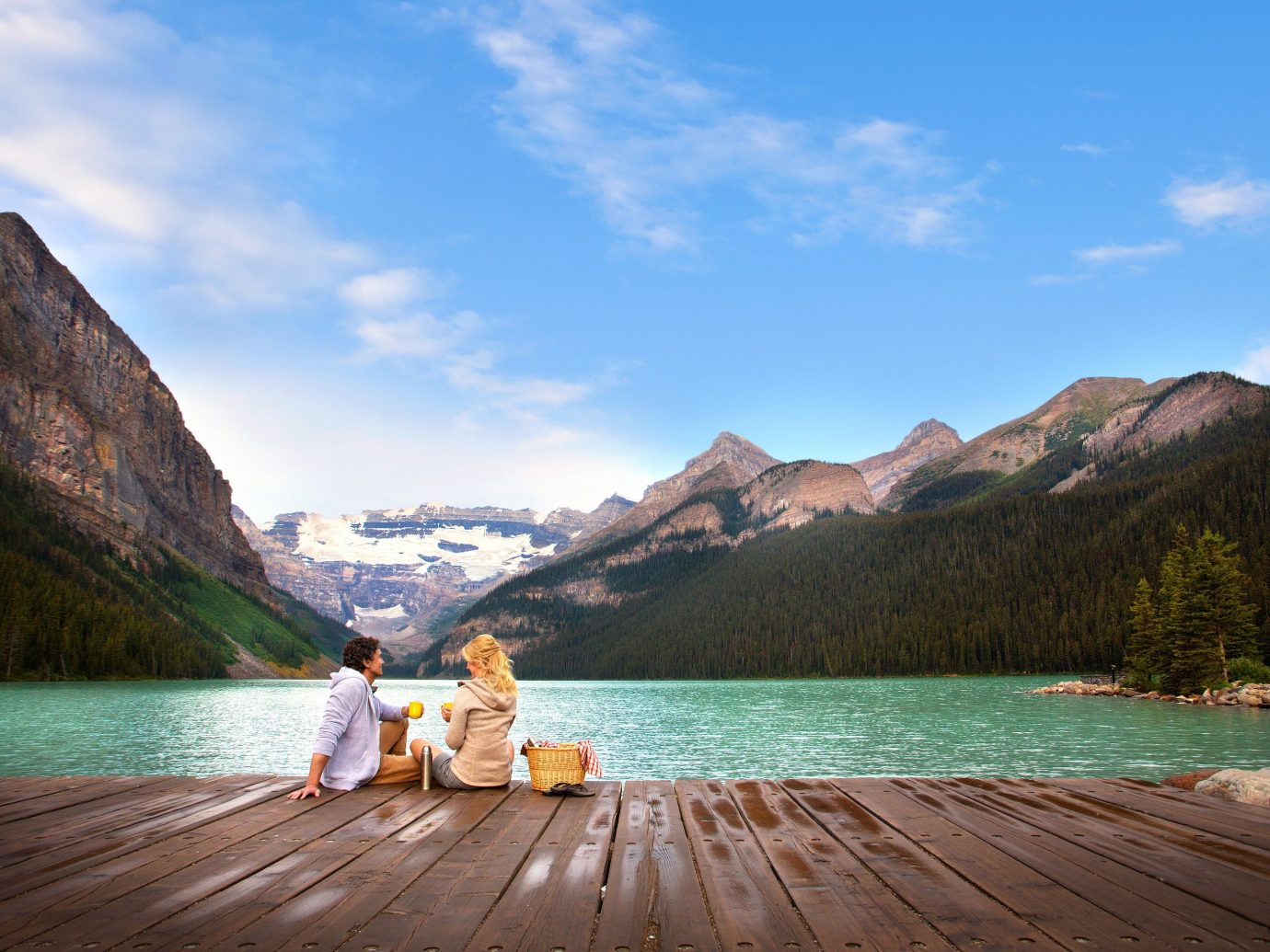 Hotels mountain sky outdoor water Nature landform Lake wooden vacation Sea bay loch fjord mountain range overlooking