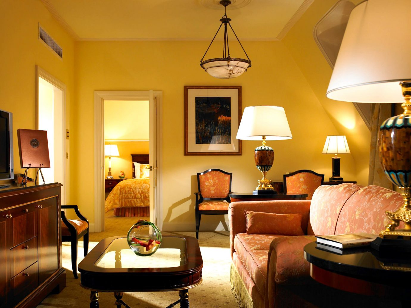 Classic Dublin Elegant Hotels Ireland Living Luxury Suite wall indoor room floor living room property home estate interior design dining room real estate yellow furniture cottage Design lamp area