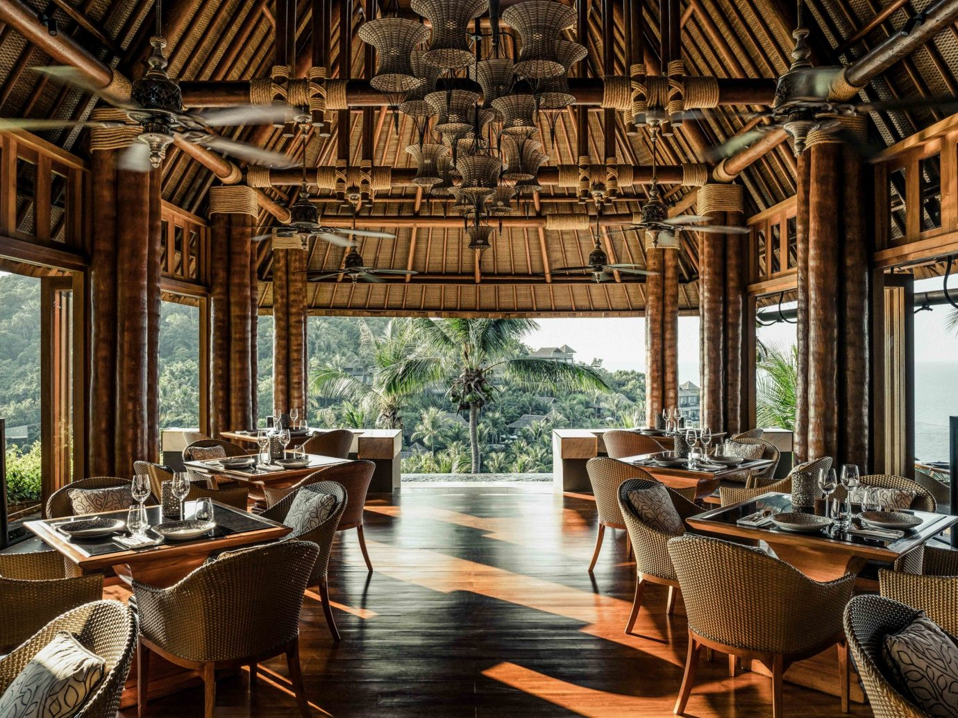 Hotels table indoor chair window room restaurant Dining interior design Resort furniture set several dining table