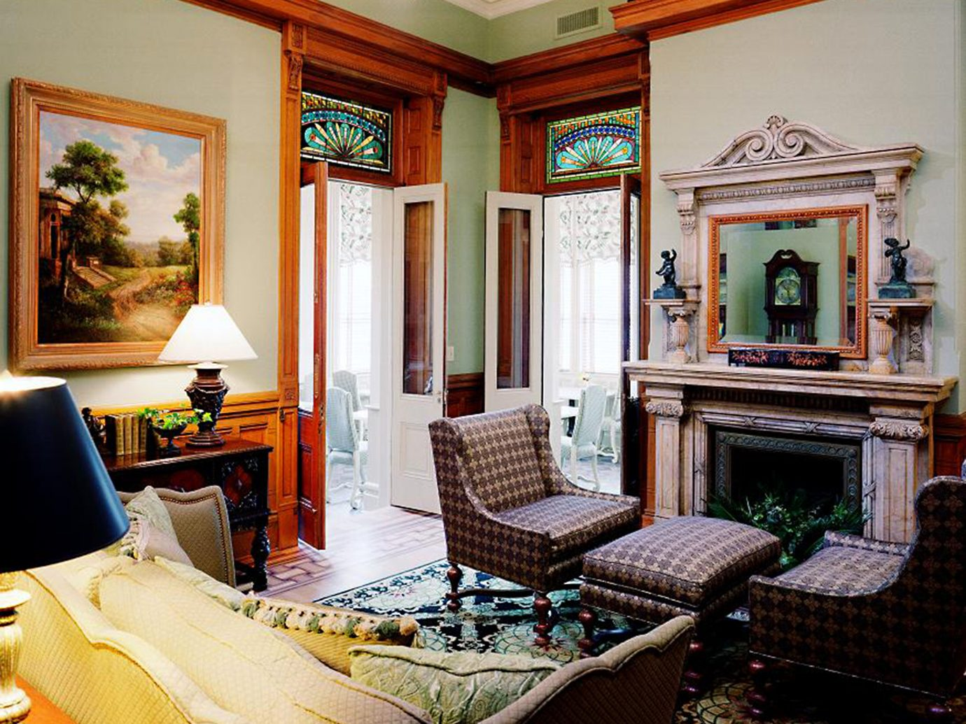 Historic Hotels Living Lounge Rustic indoor room wall living room floor property estate home window house mansion furniture interior design real estate Villa Suite decorated cottage area several