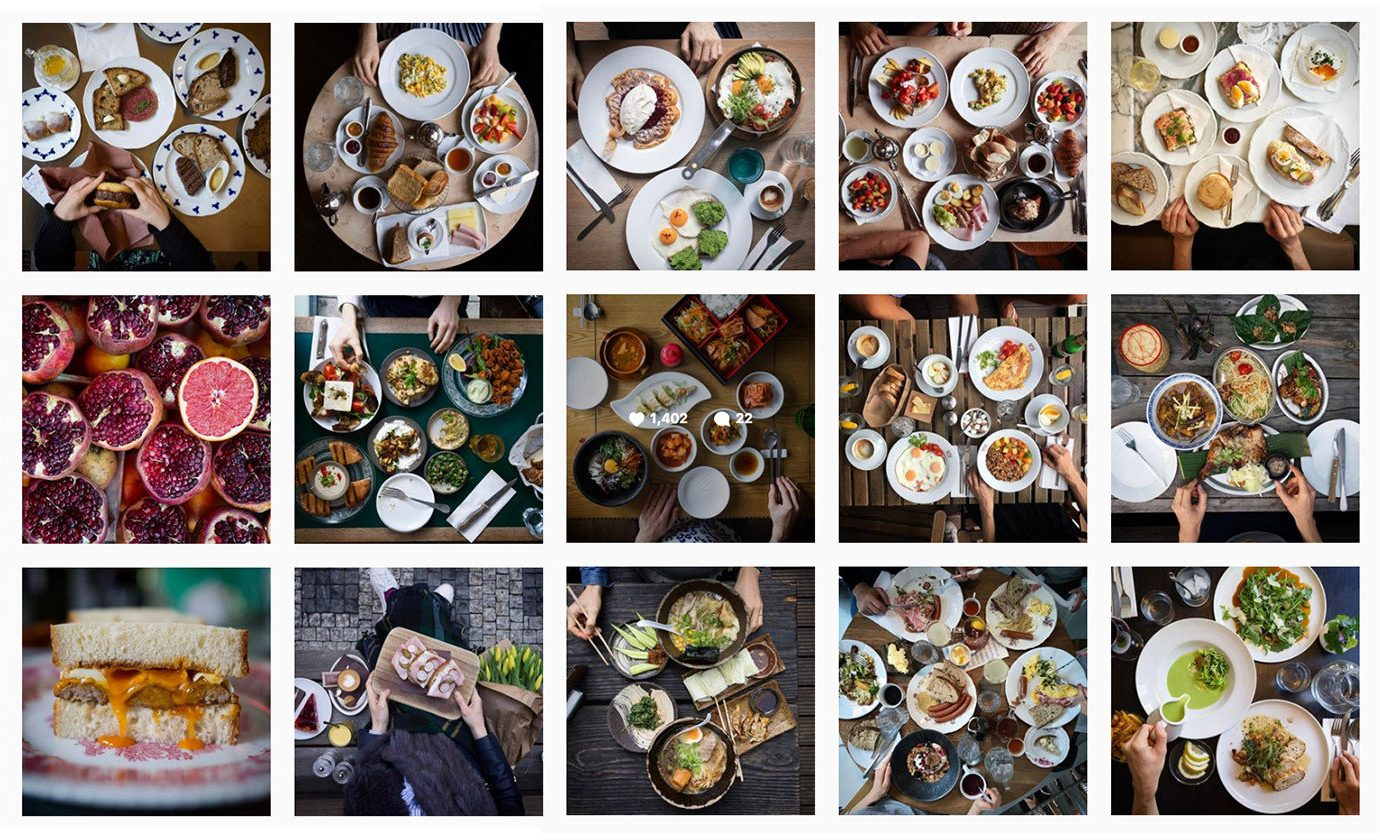 Food + Drink Influencers + Tastemakers different food meal product bunch several colored