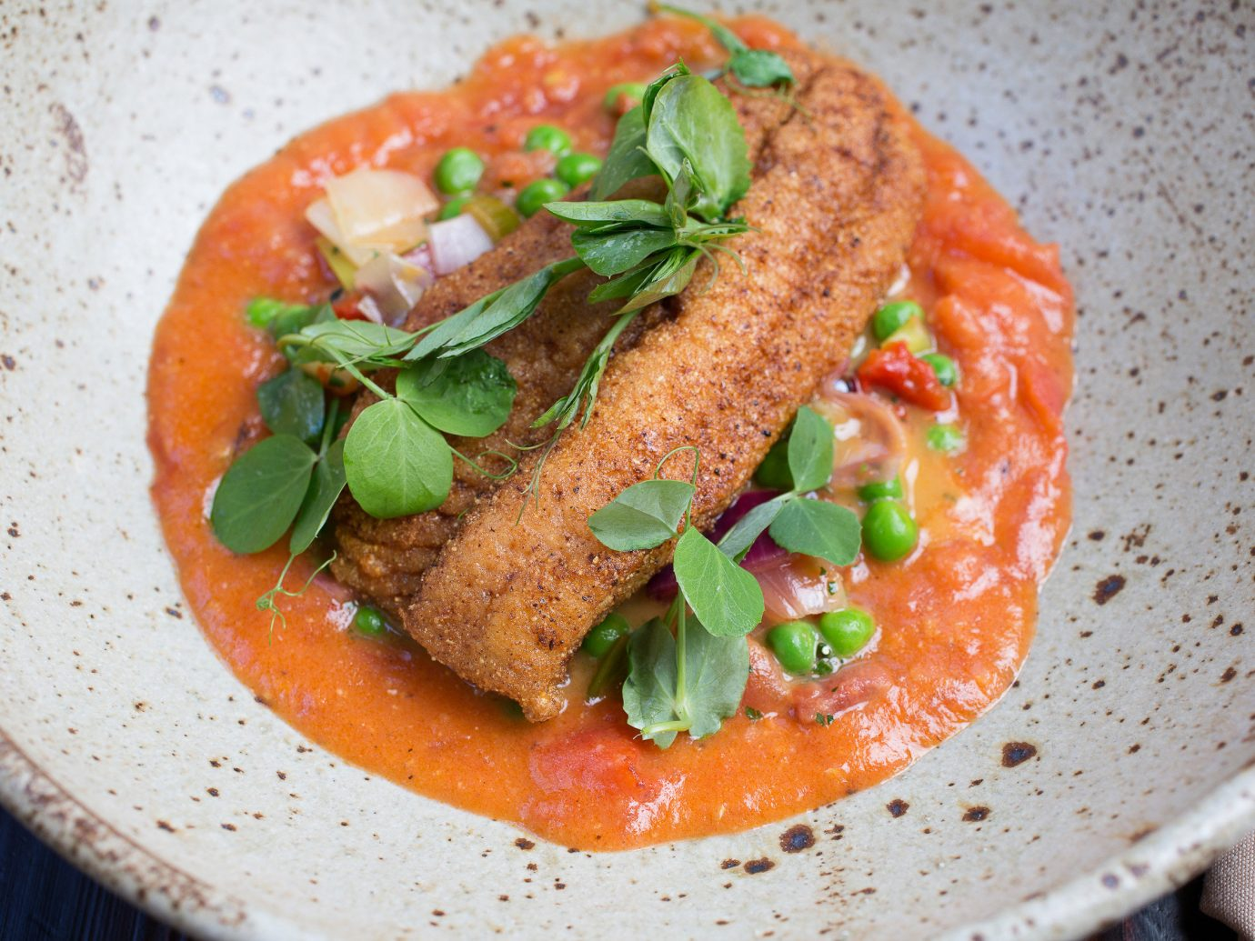 fish dish from Husk restaurant in Charlotte.