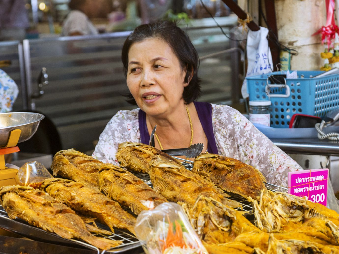 Food + Drink food person dish public space meal Seafood fish market street food cuisine sense asian food snack food