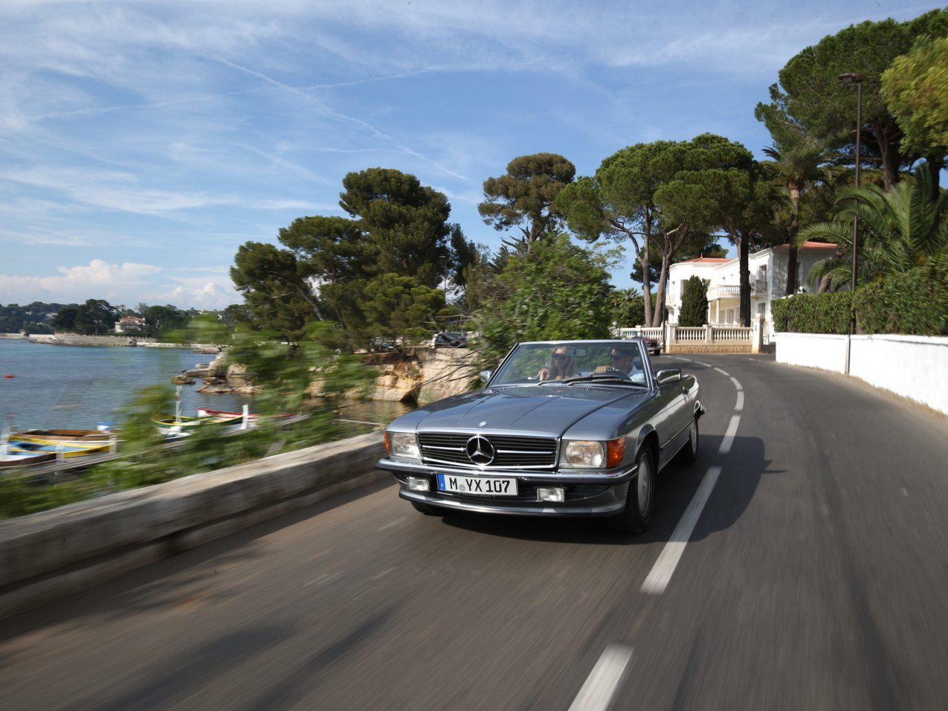 Car driving in Antibes Southern France