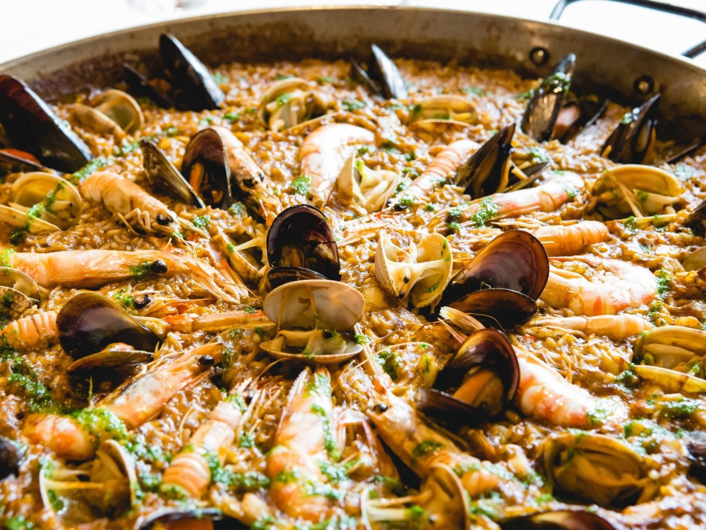 Food + Drink Portland, Oregon Trip Ideas food dish cuisine Seafood european food paella pan animal source foods spanish cuisine recipe portuguese food vegetable stew silver several fresh cooked saute