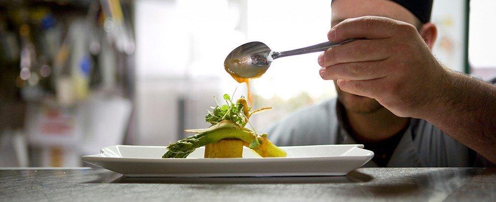 Food + Drink person human action food dish sense