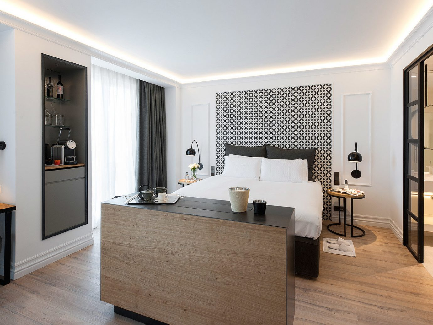 Barcelona Bath Bedroom Boutique Design Hotels Living Luxury Modern Spain indoor floor wall room ceiling window property furniture bathroom interior design real estate home estate flooring Suite cabinetry wood flooring apartment wood decorated