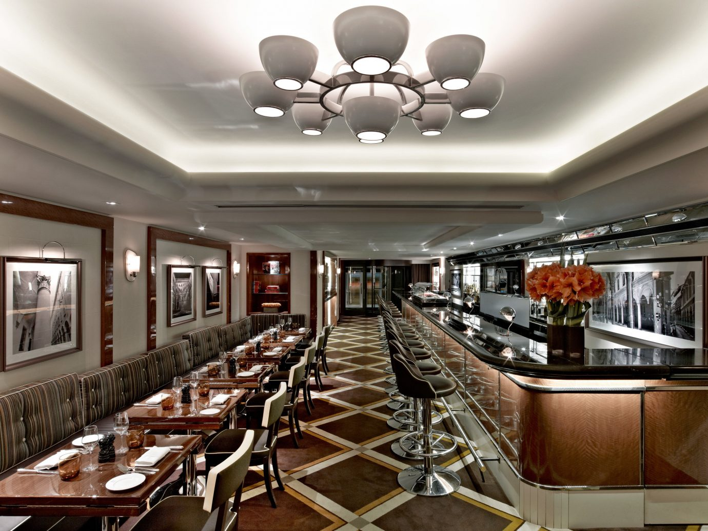 Bar Drink Eat Hotels Lounge Luxury Luxury Travel Modern Nightlife Romantic Hotels ceiling indoor chair room restaurant interior design function hall Lobby conference hall furniture convention center estate cafeteria Dining meal area dining room Island several