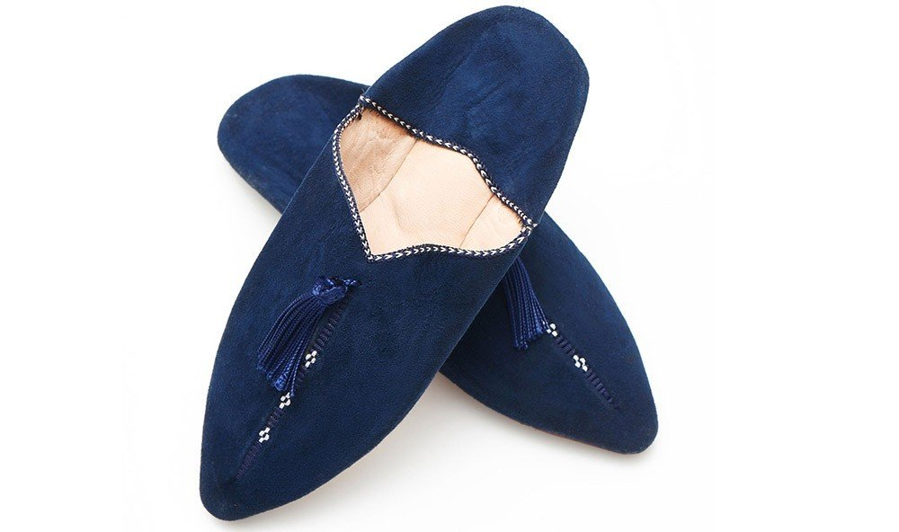 Style + Design footwear shoe black blue electric blue slipper leather product textile leg outdoor shoe human body