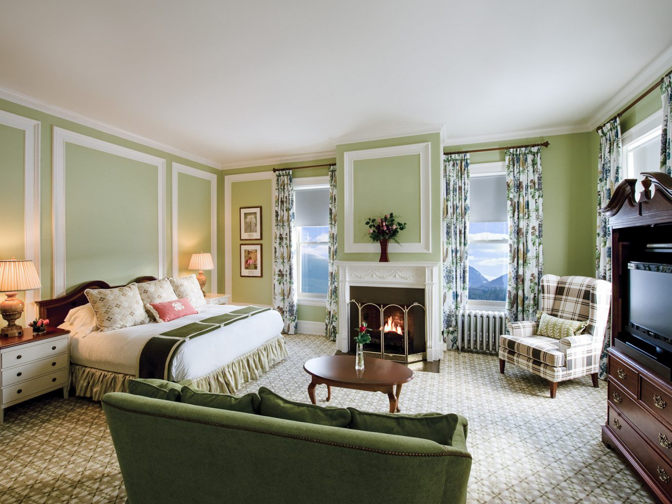 Boutique Hotels Fall Food + Drink Hotels Outdoors + Adventure Weekend Getaways indoor floor wall room Living living room interior design home Suite real estate furniture window estate house area decorated