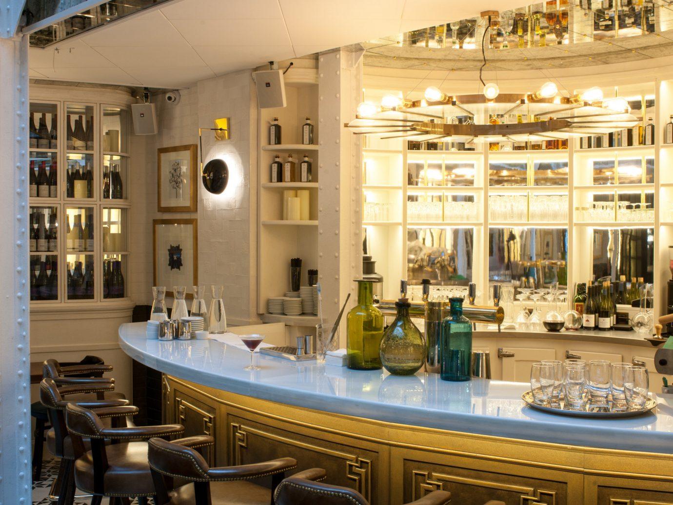 Food + Drink indoor floor restaurant meal interior design function hall estate Bar plaza several
