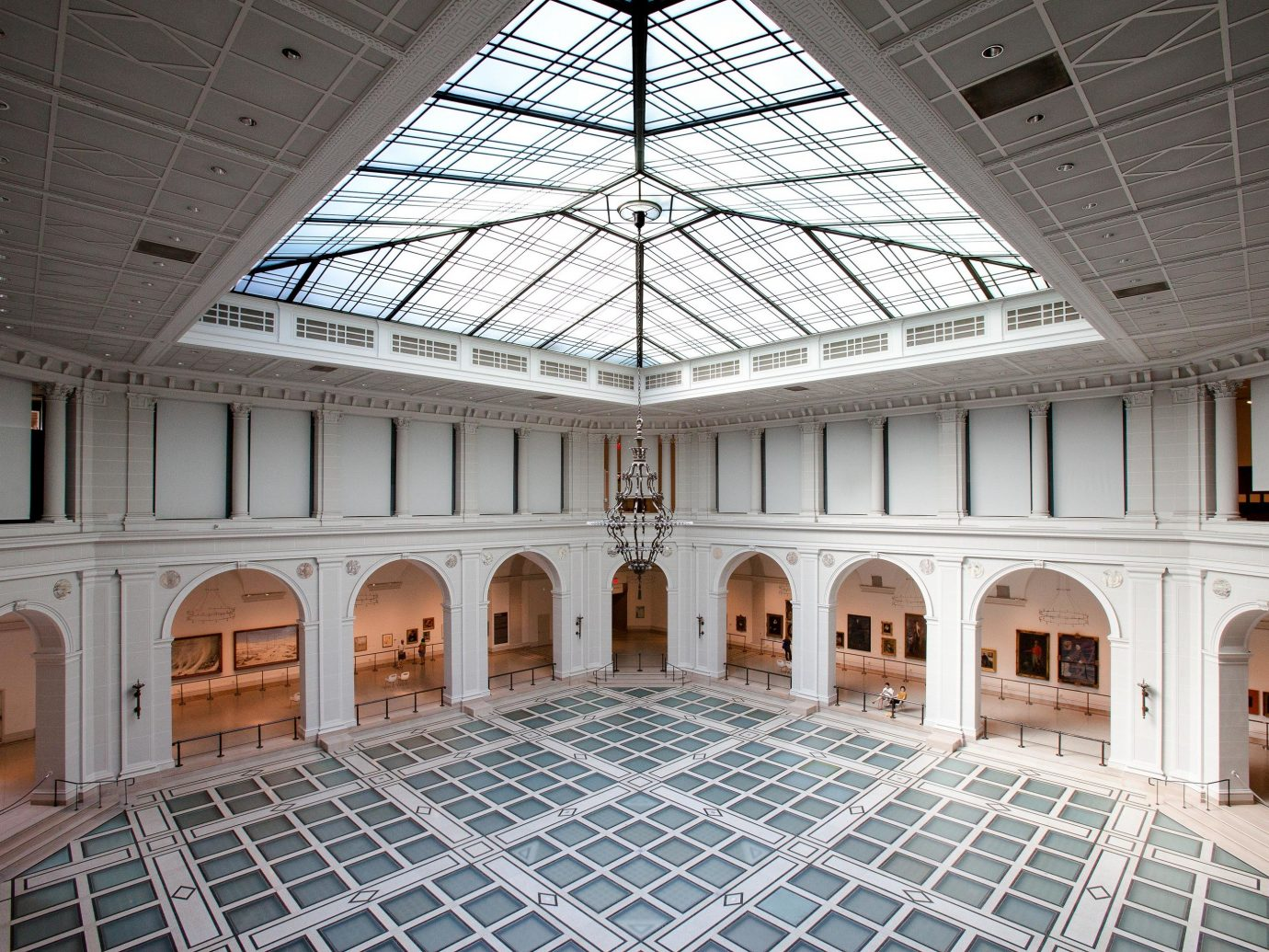 Interior atrium at Brooklyn Museum