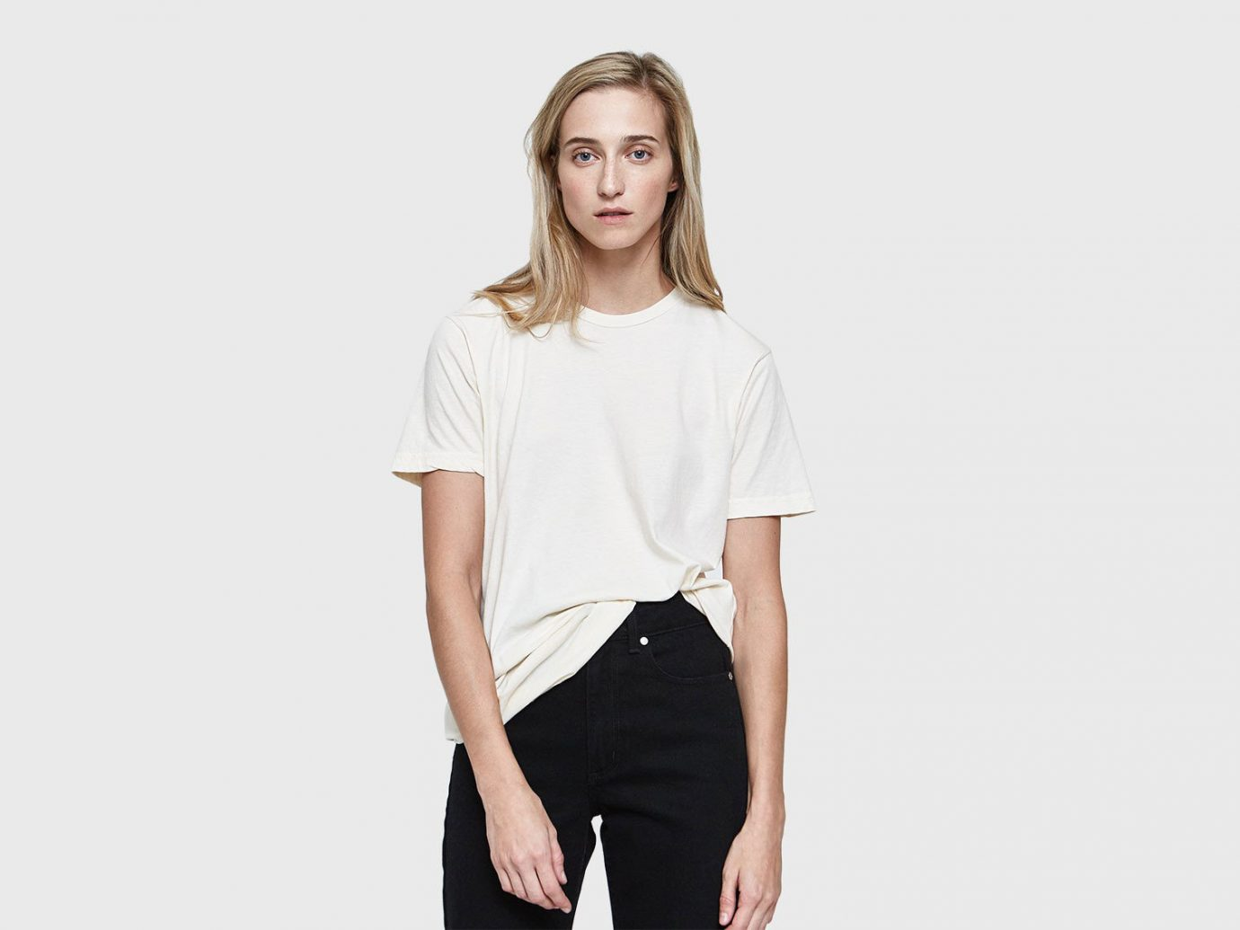 Packing Tips Style + Design Travel Shop clothing white person fashion model sleeve shoulder joint neck t shirt supermodel blouse waist posing top trouser