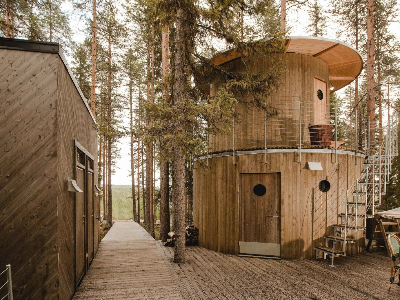 Boutique Hotels Sweden wood shed tree outdoor structure house