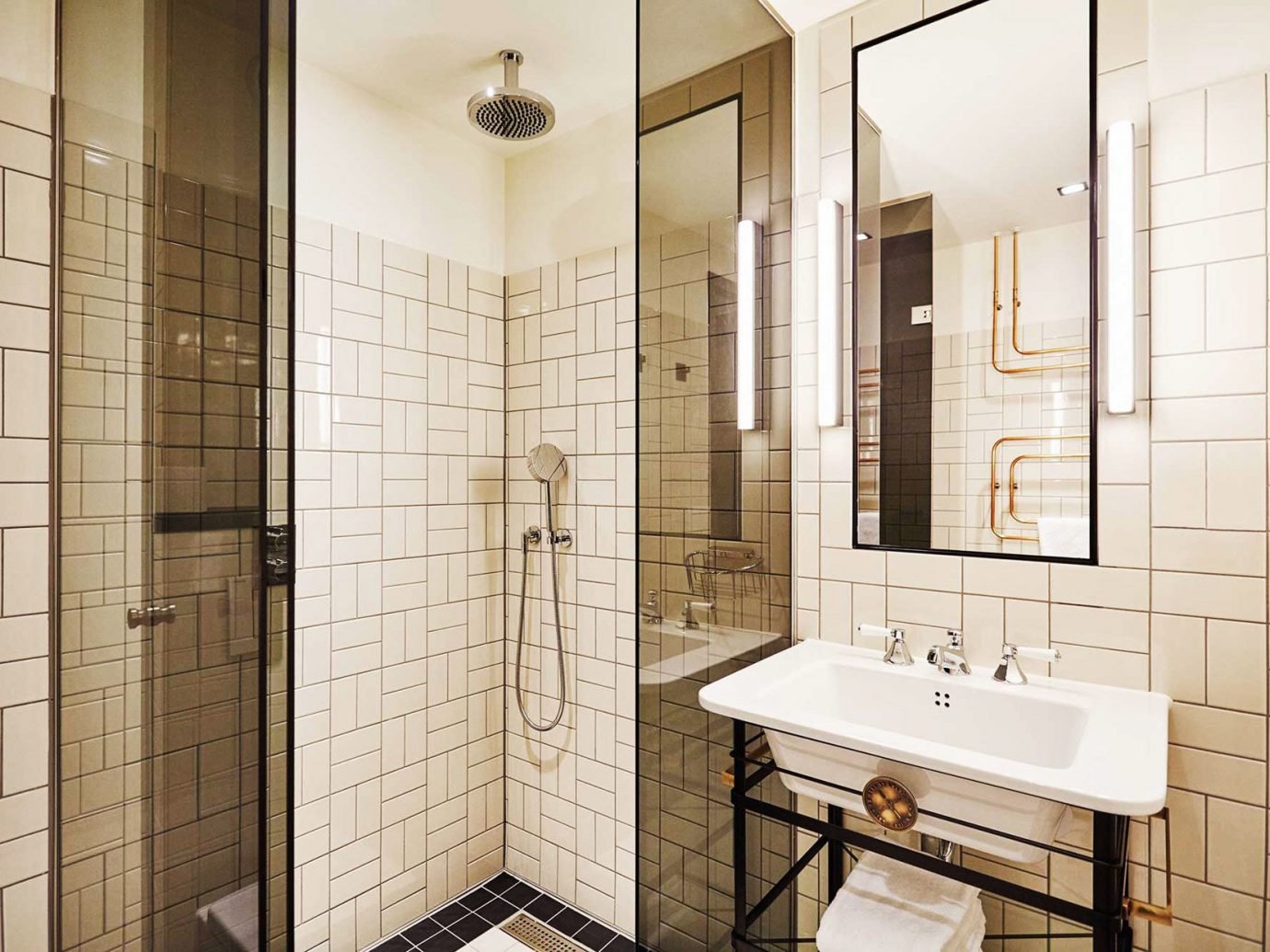 Amsterdam Boutique Hotels Hotels The Netherlands bathroom indoor wall room property sink floor plumbing fixture interior design flooring tile estate apartment tiled tan