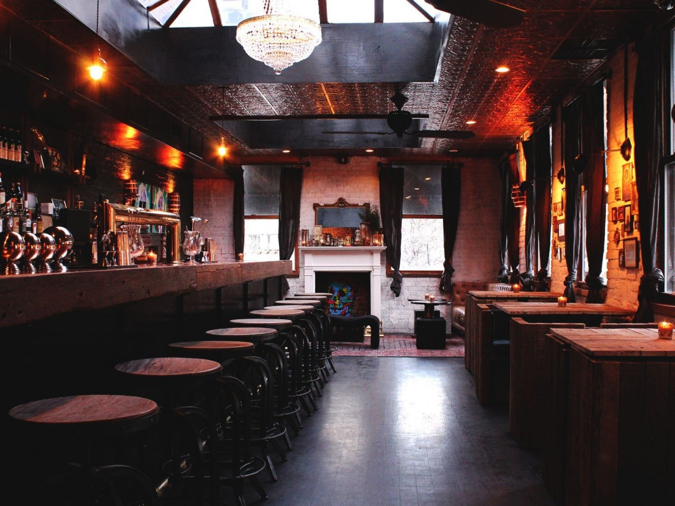 Food + Drink indoor Bar stage restaurant interior design