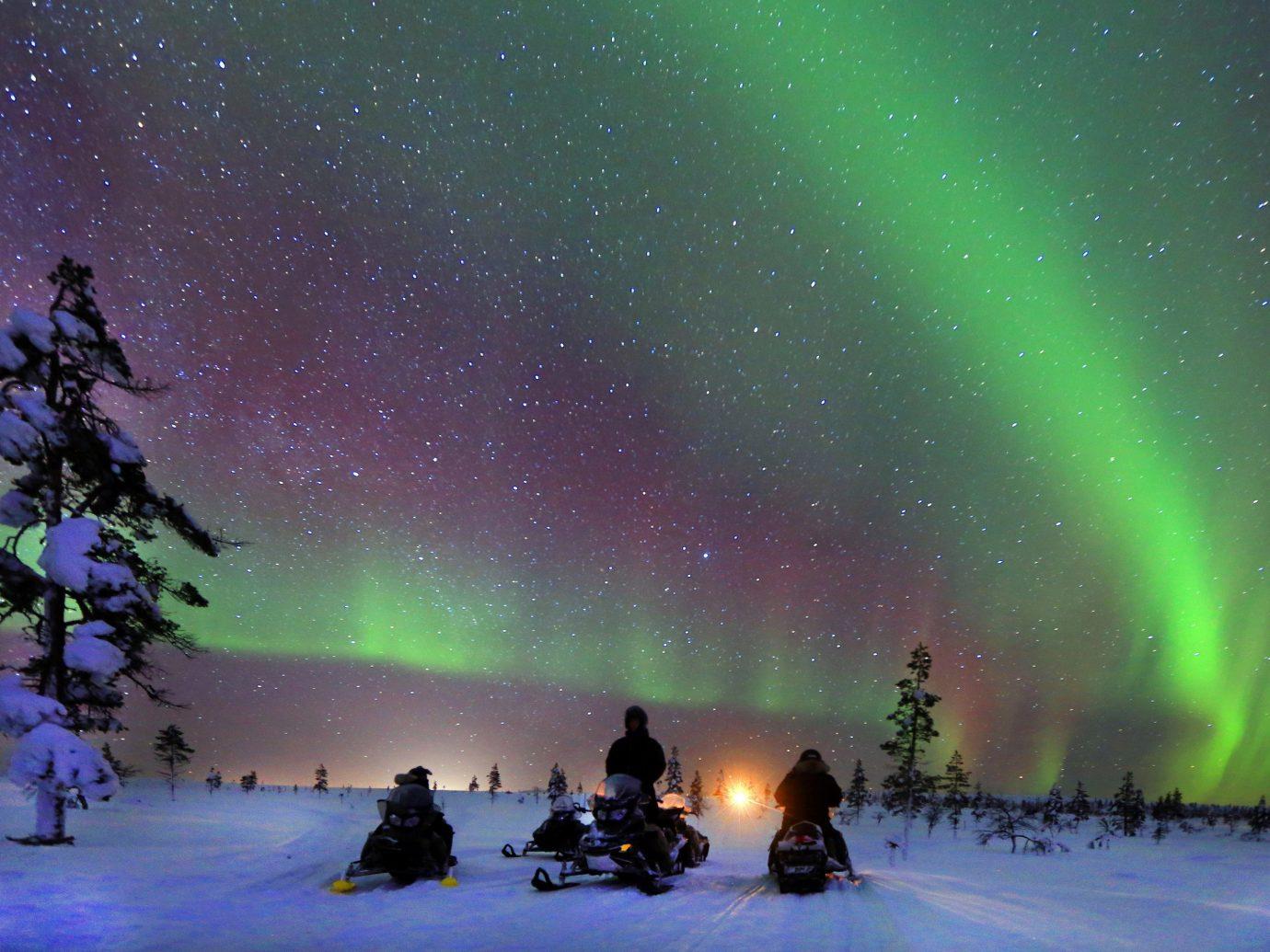 Adventure Luxury Travel Outdoor Activities Trip Ideas aurora atmosphere Night Sky